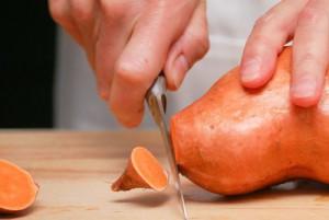 Rohe Süßkartoffel