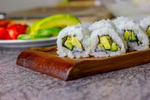 Beispiel für Sushi Präsentation