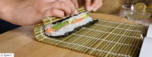 Bambusmatte um Sushi selber zu machen