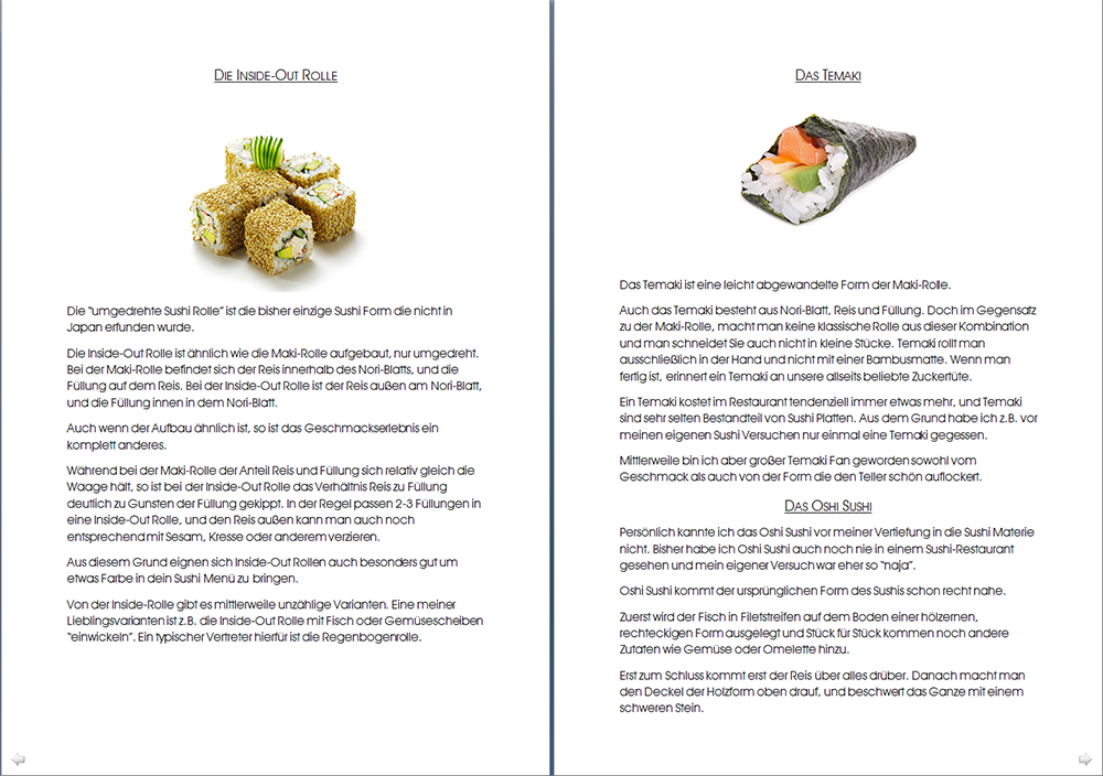 Beispielseite 1 Sushi eBook