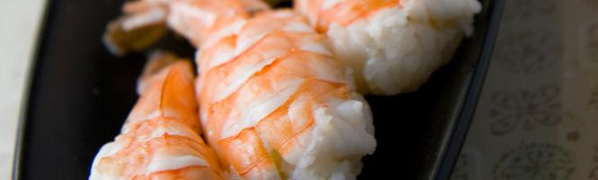 Garnelen für Nigiri Sushi zubereiten