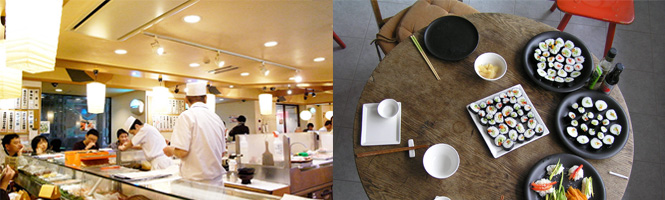 Sushi im Restaurant oder zuhause selber machen