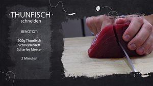 So schneidest du Lachs und Thunfisch für dein Sushi